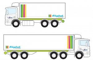Logo Frigéal sur camion