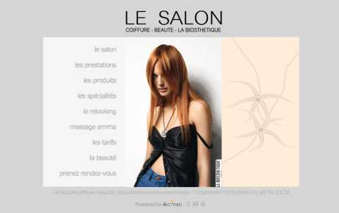 Le salon coiffure webdesign art 39 mail conseil for Le salon coiffeur