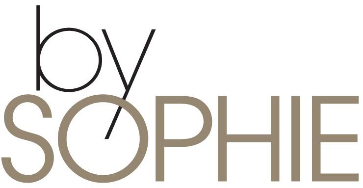 """Logotype du salon de coiffure et soin des cheveux """"by SOPHIE"""""""