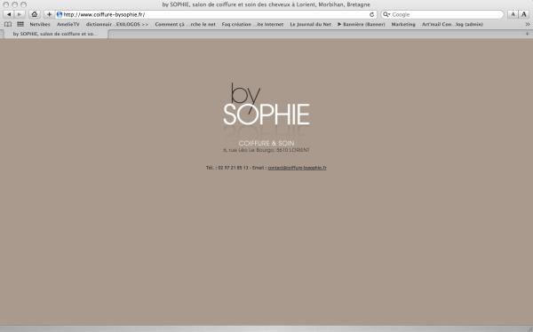 """Page Web du salon de coiffure """"by SOPHIE"""" à Lorient"""