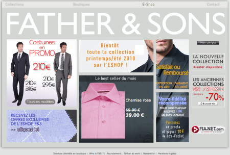Page e-shop Father & Sons