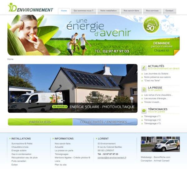 Site Internet ID Environnement (des énergies d'avenir)
