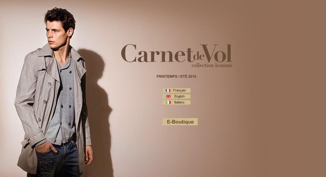Page d'accueil WebSite Carnet de Vol