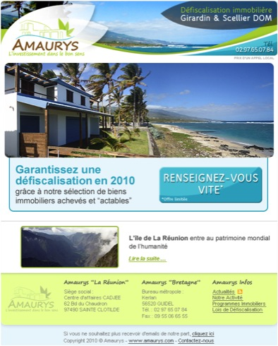 2e campagne d'emailing Amaurys
