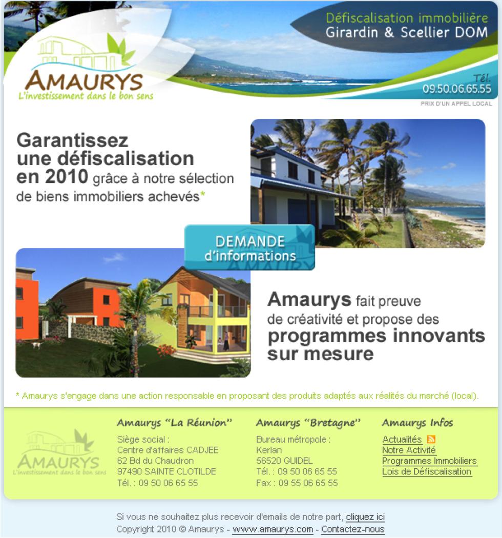 Campagne e-mailing Amaurys