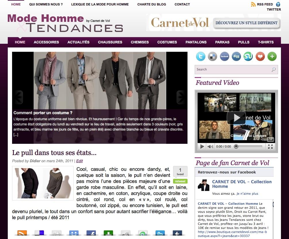 Blog des tendances et de la mode pour Homme