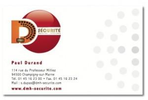 Carte de visite DMH Sécurité 2011
