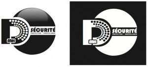 Logos Monochrome DMH Sécurité 2011