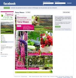 """page fan Terra Vivace """"bienvenue"""""""
