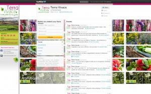 Compte twitter Terra Vivace maquetté