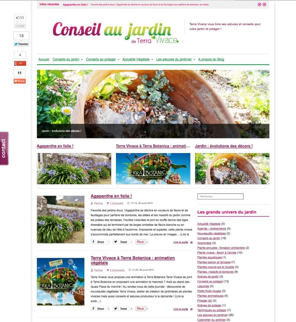"Blog ""Conseil au jardin"" by Terra Vivace"