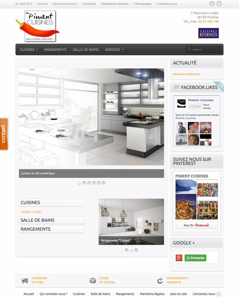 Site Internet Piment Cuisines