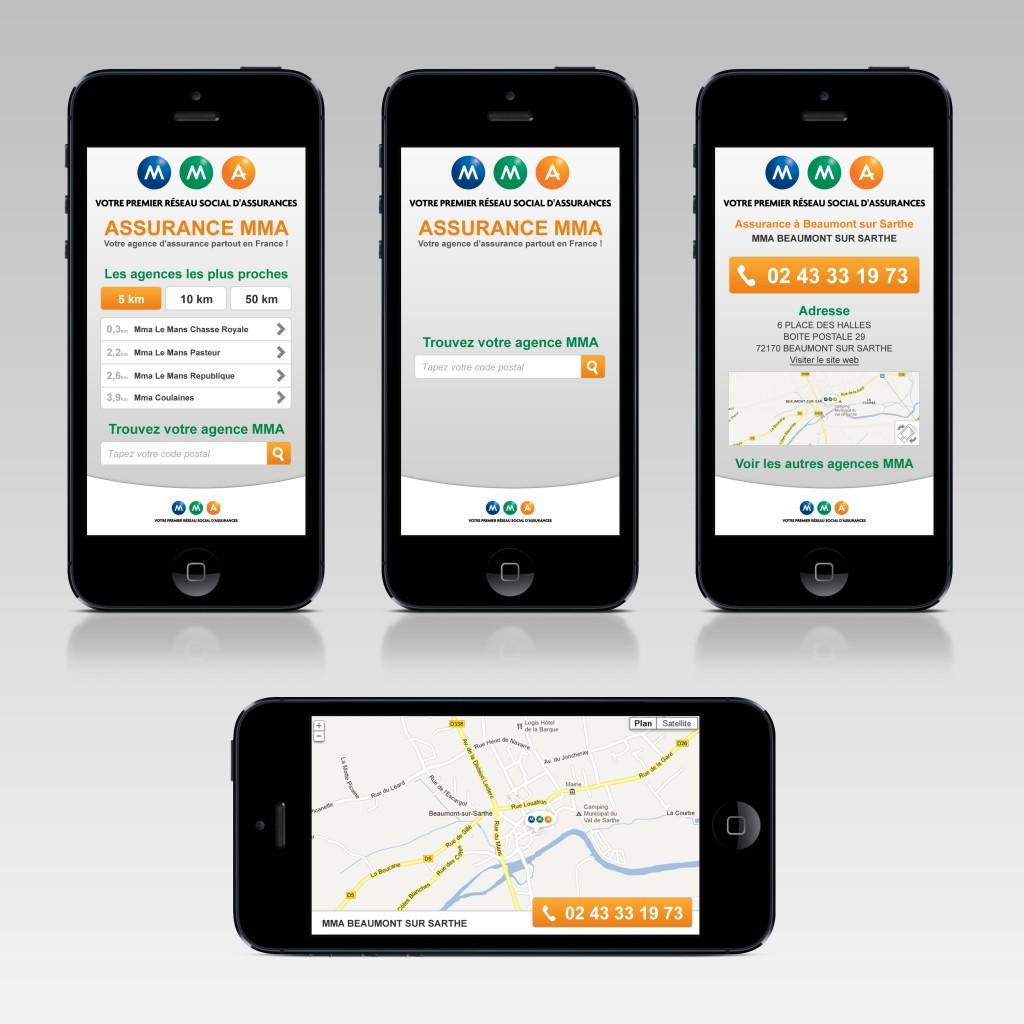 Site mobile MMA (agences MMA)